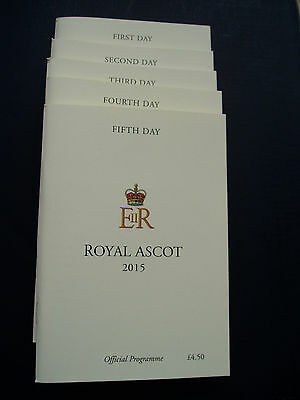 Royal Ascot 2015 Set Of Race Cards (Mint)
