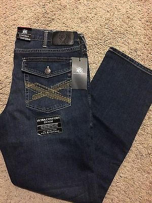 Nwt Rock & Republic Straight Fit Dirty Deeds Jeans Blue Wash 32X30 Msrp $88