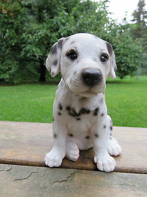 DALMATIAN PUPPY DOG FIGURINE resin animal Statue PET SITTING  ORNAMENT NEW
