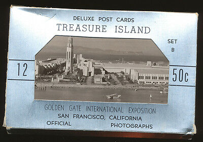 1939 Golden Gate Expo San Francisco, set B of 12 RPPC post cards