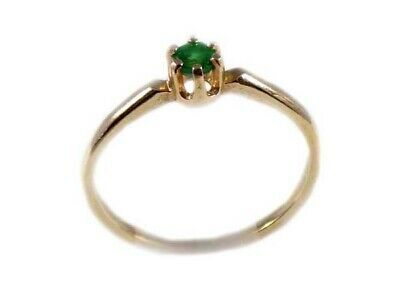 Alexandrite Gold Ring ¼ct Antique 19thC Russia Natural Color-Change Genuine 14kt