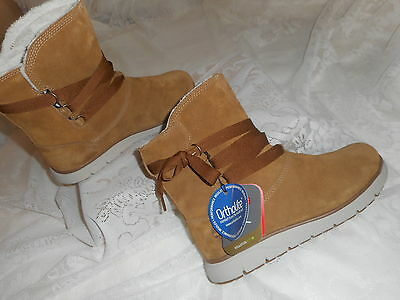 TIMBERLAND  women's  Leighhland  pull-on waterproof  trapper boots 8.5 M  NEW