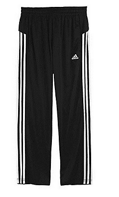 Adidas Boy's Core Athletic Track Pants Black/White