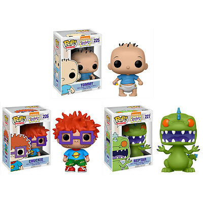 Funko POP! Animation - Rugrats Vinyl Figures - SET OF 3 (Tommy, Chuckie & Reptar