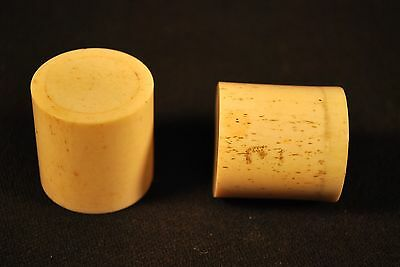 Vintage Japanese / Chinese / Asian Matching Bone Scroll Ends