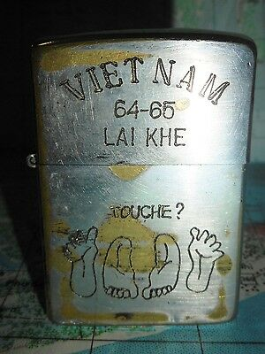 TOUCHE - Original 1962 - VIETNAM WAR ZIPPO LIGHTER - 1964, 65 LAI KHE TOUR - 362