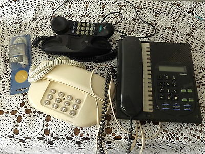 Lot GE Black Wall Phone kambrook Bush Button Phone Nitsuko Push Button  FP 5000