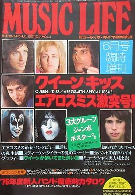 Queen Kiss Aerosmith 1976 Music Life Special Issue Japan Magazine
