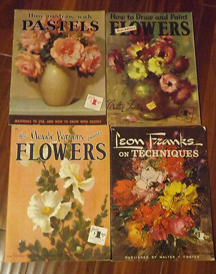 4 Published Walter Foster How to Paint Draw Flowers and Still Lives Books