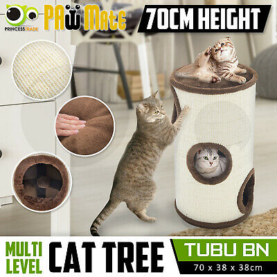 Cat Tree Scratching Post Scratcher Pole Gym House Furniture Multi Level 70cm BN