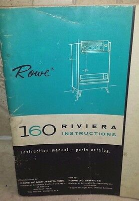 Rowe Ami 160 Riviera Cigarette Vending Machine Instruction & Wiring Manual