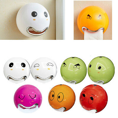 Durable Cute Plastic Wall Mounted Bathroom Toilet Paper Tissue Roll Holder Box