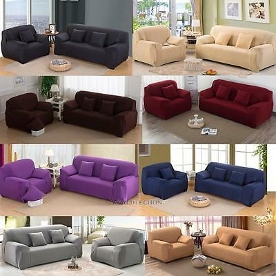 Soft STRETCH SLIPCOVER CHAIR LOVESEAT SOFA FUTON RECLINER PILLOW COVER Armchair