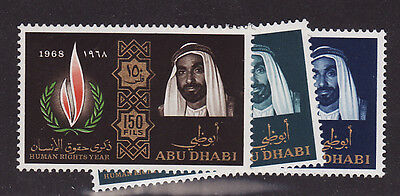 Abu Dhabi mnh stamps mi#42-44 human rights 1968