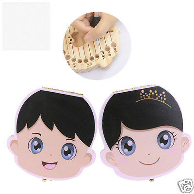6 Languages Baby Personalized Wooden Fairy Tooth Box Deciduous keepsake Gift