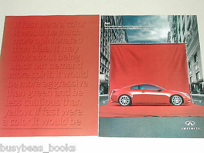 2005 Infiniti 2-page ad, Infiniti G35 Coupe, Red