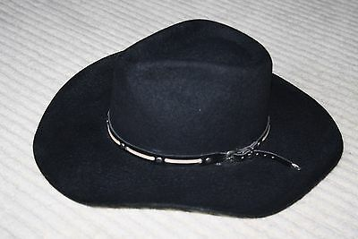 b5febae59cdc9 BULLHIDE MONTECARLO WOOL Felt Men s Cowboy hat size Medium Black ...