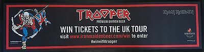 1 x OFFICIAL ROBINSONS BREWERY IRON MAIDEN TROOPER BAR RUNNER NEW MINT CONDITION