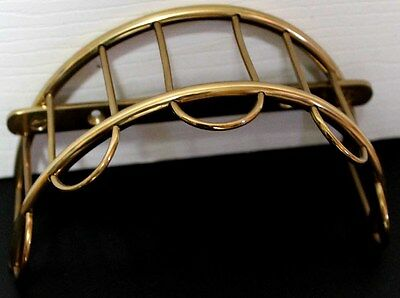 Solid Brass Home Bath Hat Coat Bridle Headstall Halter Wall Hanger Hook 6740