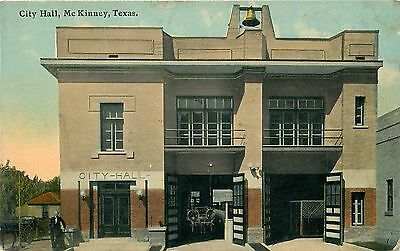 Mckinney, Texas - City Hall - 1913 - Old Postcard View