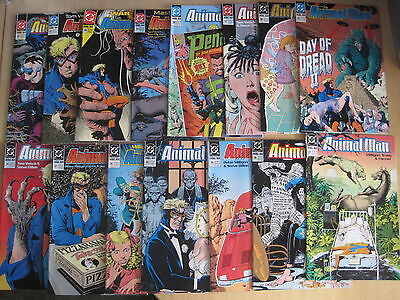 ANIMAL MAN #s 27 - 42 (exc33) : GREAT RUN by MILLIGAN,VEITCH,DILLON etc. DC.1990