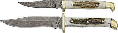 Fox-N-Hound 60910 Fixed Knife Damascus Stag Handle Damascus Twin Set I