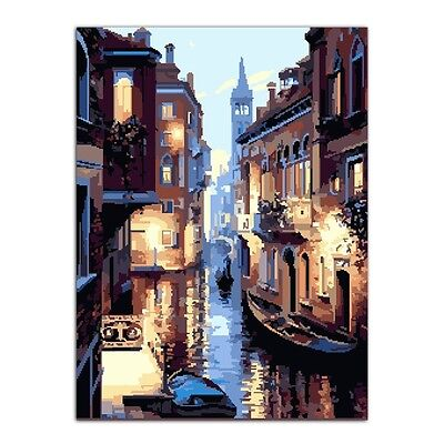 Watery City DIY Oil Painting Paint By Numbers Drawing On Canvas Home Decor