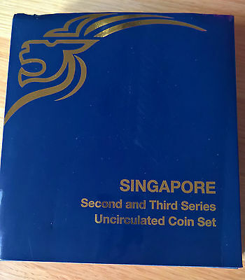 Singapore Second and Third Series uncirculated coin set