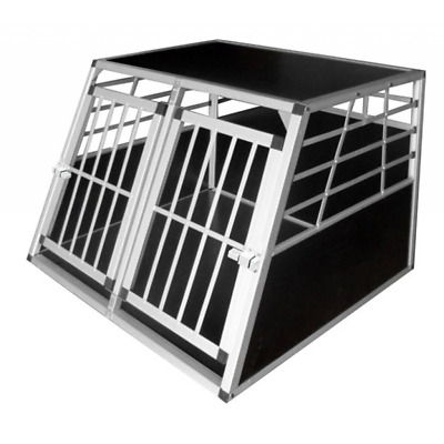 vidaXL Dog Carrier Transport Cage Travel Pet Crate Kennel Collapsible Aluminium