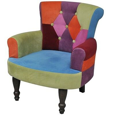 New French Provincial Arm Chair Dining Armchair Retro Wingback Sofa Wing Style