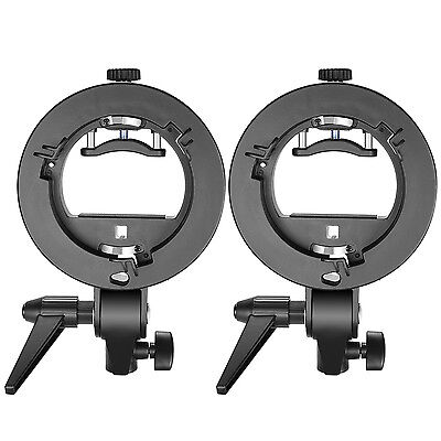 Neewer 2 Pack S-type Flash Speedlite Bracket Mount for Nikon SB910 Canon 580EX