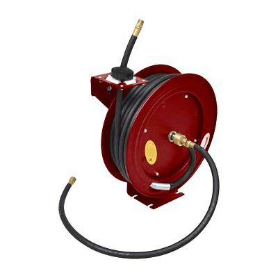 Air Hose Reel 15M Retractable Rewind Compressor Industrial Grade Tool Wall Mount