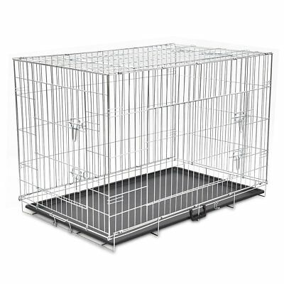 """48"""" XXL Dog Cage Crate Pet Kennel Puppy Cat Rabbit Metal Collapsible House"""