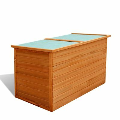 Wooden Outdoor Garden Storage Box Waterproof Deck Toy Tool Cushion Container