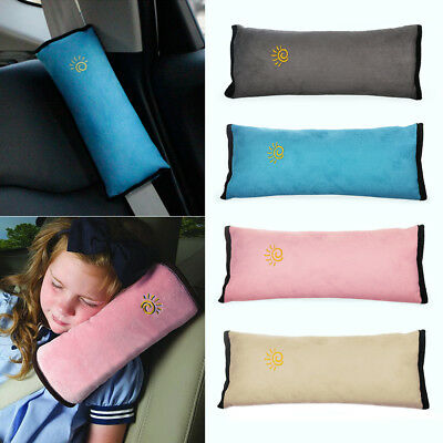 Child Car Safety Seat Belt Pillow Shoulder Strap Pad Cushions Head Supports Kids