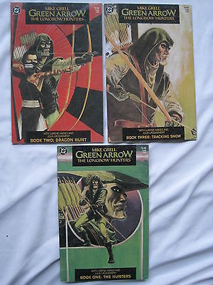 GREEN ARROW, the LONGBOW HUNTERS : COMPLETE 3 ISSUE SERIES by MIKE GRELL.DC.1987
