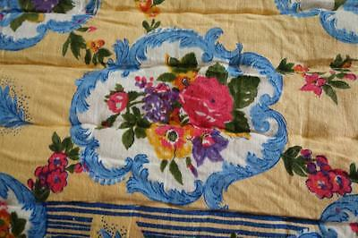 Cameo Roses 1950's Hand Stitched Quilting Vintage Cotton Quilt 205x180