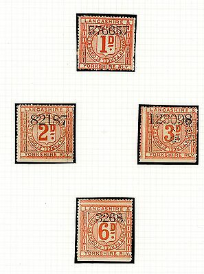 1892  Lancashire and Yorkshire Railway Stamps (4)    (J1464)