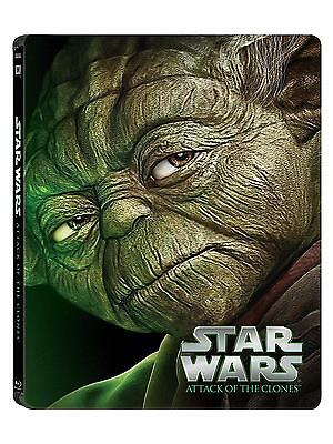 Star Wars Attack of the Clones Limited Edition Steel Book Blu ray