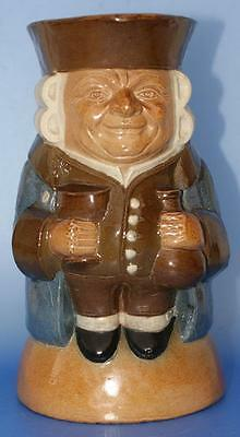 Rare Doulton Lambeth  Toby Jug The Standing Man Style I Antique Stone Ware