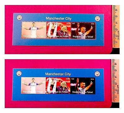 new Manchester City 2016 Football stamps 3value Sheetlet feat. sports stars GIFT