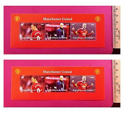 Manchester United 2016 Football stamps 3 value Sheetlet feat. sports stars GIFT