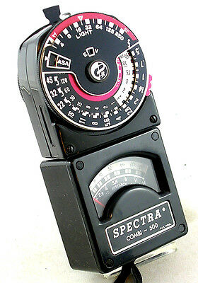 Cased SPECTRA COMBI-500 Meter w/Accessories and Strap