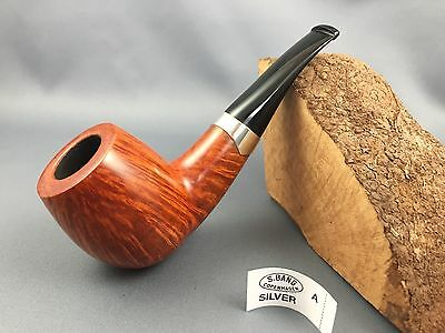 S. Bang Grade A Silver pipe pipa Pfeife - brand new in pouch Handmade in Denmark