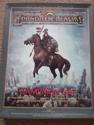 Tsr Ad&d Forgotten Realms Campaign Setting 1E Vgc 1031 Box Adv Dungeon Dragon