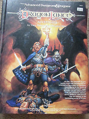 Tsr Ad&d Dragonlance Adventures  2021 Hb Hc Advanced  Dungeon Dragon