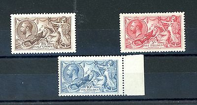 Great Britain 1918 Seahorses  Set of 3  SG 413A/417  Fine unmounted MINT (J1477)