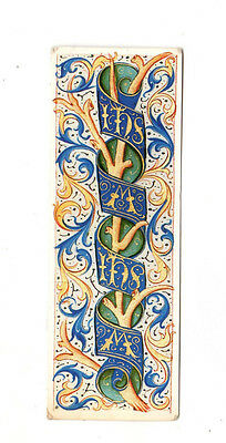 Vintage Bookmark Decorative Border Book of Hours Wake Collection Oxford Library