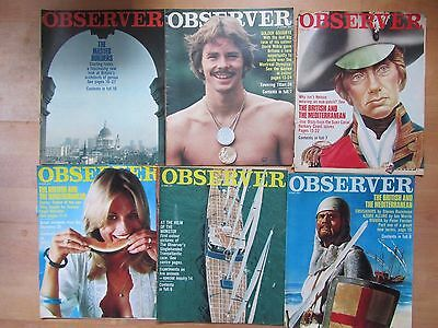 Observer Magazine - Job Lot Of 6 - All From 1976 - Free Recorded Delivery!