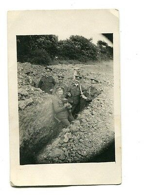 W.w. 1. Soldiers In The Trenches, Postcard